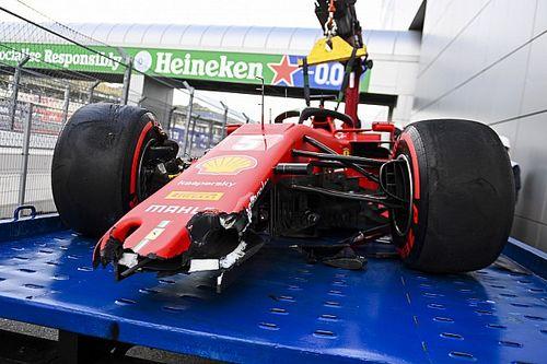 Unfall von Ferrari-Fahrer Sebastian Vettel im Qualifying in Sotschi