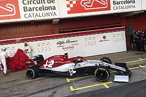 Alfa Romeo muestra sus colores en Barcelona