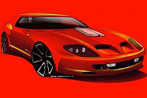 Ferrari Breadvan Hommage being built from 550 Maranello