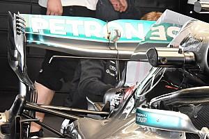 Bakura tesztelt hátsó szárnyat a Mercedes Sanghajban