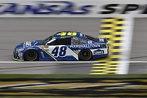 NASCAR Cup Breaking news Jimmie Johnson spins twice, but still escapes elimination at Kansas