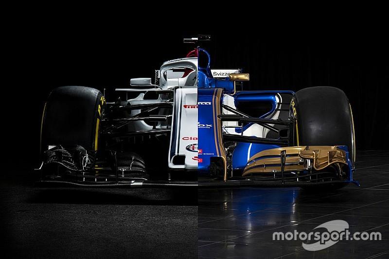 Слайдер: порівняння нової і торішньої машин Sauber