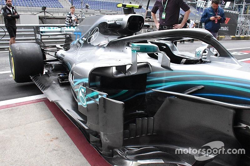 Mercedes avec une W09 fortement évoluée en Autriche