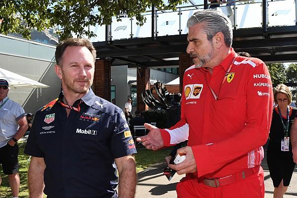Формула 1 Новость Арривабане и Хорнер устроили перебранку на пресс-конференции