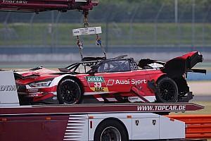 DTM Отчет о гонке Рене Раст угодил в аварию с переворотом на гонке DTM