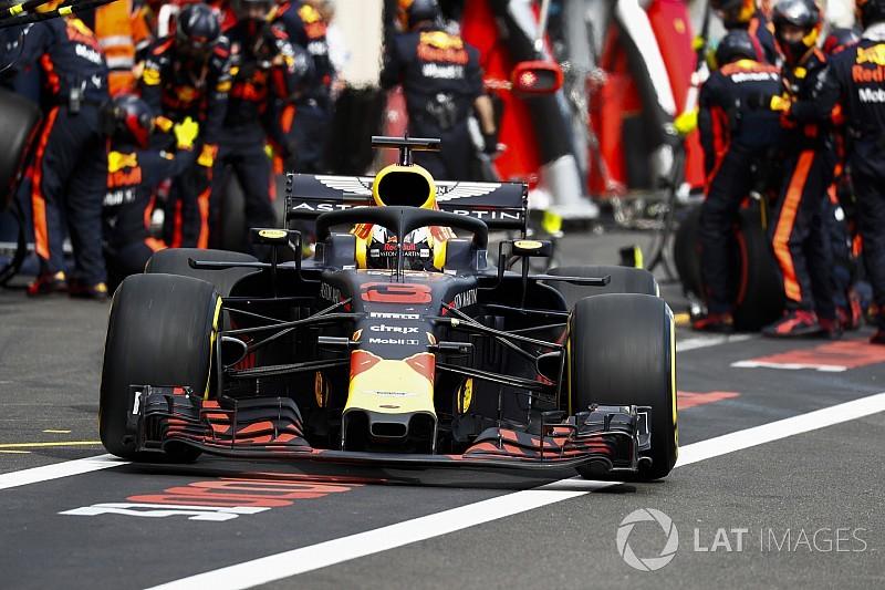 Fotos revelam como asa de Ricciardo cedeu na França