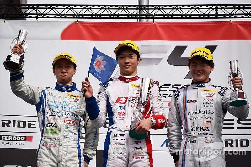 FIA-F4開幕戦岡山:フル参戦デビューの名取鉄平が嬉しい初優勝果たす
