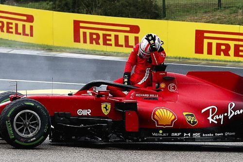Motor Leclerc onherstelbaar beschadigd na crash met Stroll