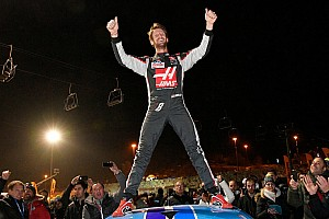 General Breaking news Grosjean takes ice racing win, Panis and Tambay involved in punch-up