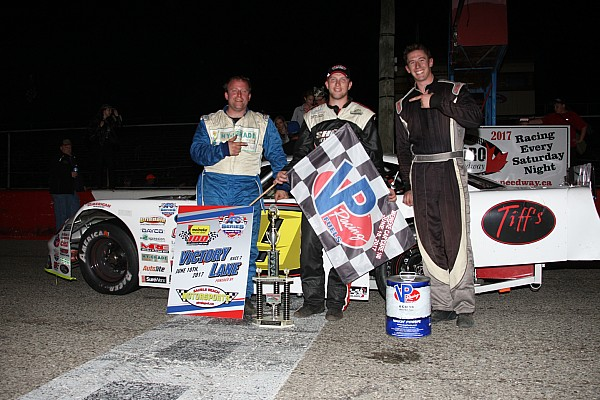 Stock car Breaking news Brandon Watson scores big APC Series win at Flamboro Speedway