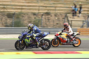Marquez kopman in derde Aragon-training, Rossi naar Kwalificatie 2