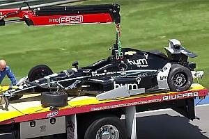 IndyCar Важливі новини Інді-500: Ньюгарден потрапив у велику аварію у четвертій практиці