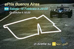 Formula E Ultime notizie Ecco la programmazione TV dell'ePrix di Buenos Aires