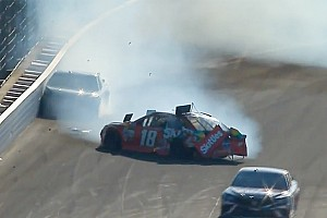 NASCAR Cup Breaking news Busch and Truex's teamwork ends in disaster at the Brickyard - video