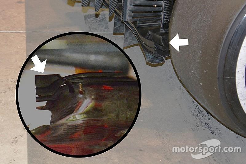 Bite-size tech: Ferrari SF16-H diffuser and diffuser winglets