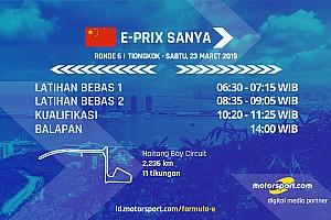 Jadwal Formula E E-Prix Sanya