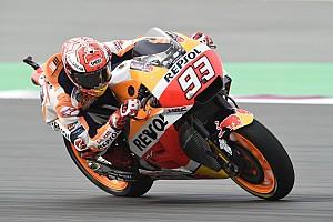MotoGP Trainingsbericht MotoGP in Katar: Marc Marquez fährt im Warm-up Bestzeit