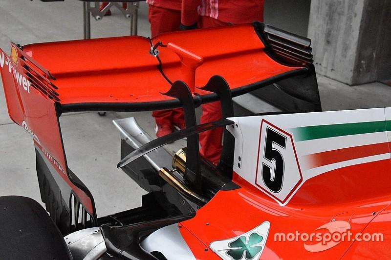 Ferrari: ecco l'ala a cucchiaio provata per l'Azerbaijan