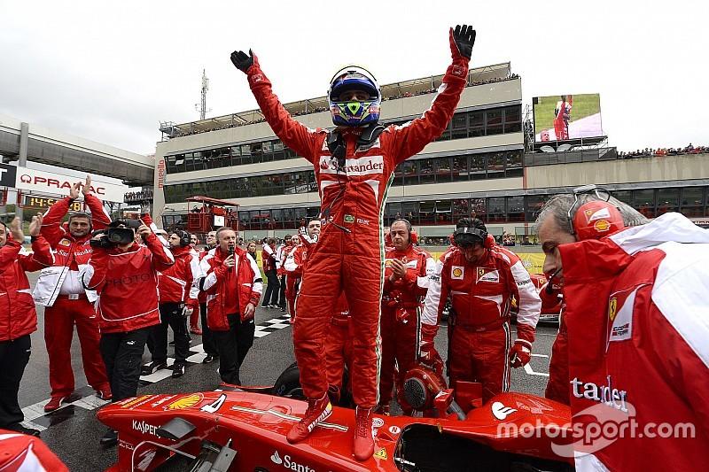 10 novembre 2013 : Massa célébré par Ferrari