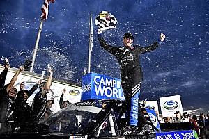 NASCAR Truck Race report Moffitt takes wild Truck win at Atlanta after drama for Kyle Busch