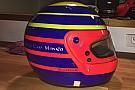 FIA F2 Leclerc svela il casco che userà nelle gare finali di F.2: è un omaggio al padre
