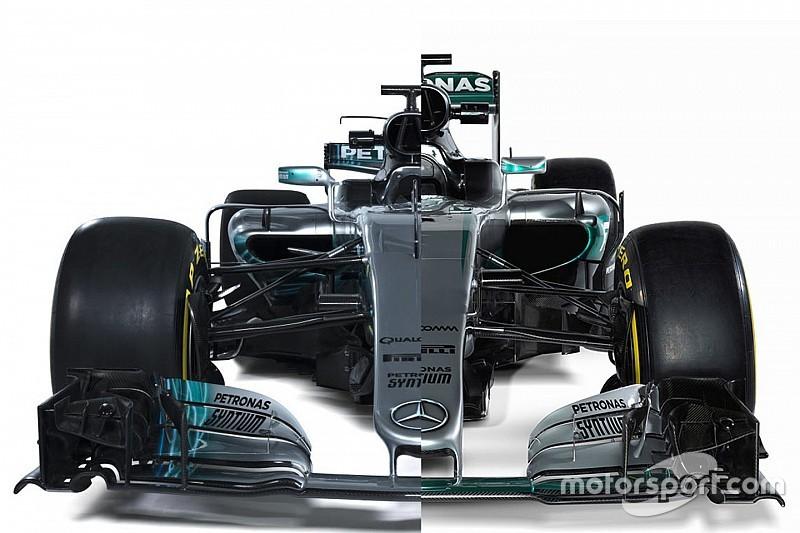 Vergelijking: De Mercedes W08 versus de Mercedes W07