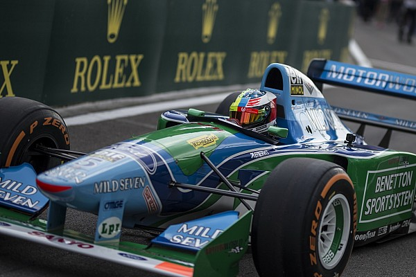 VIDEO: así se vió la vuelta de Mick en el Benetton B194 de Michael Schumacher