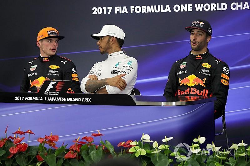 Verstappen megint legyőzte Ricciardót, akinek nem volt esélye Japánban