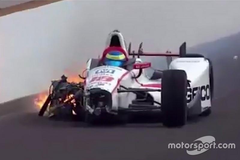 Bourdais publica en redes su primera foto tras choque