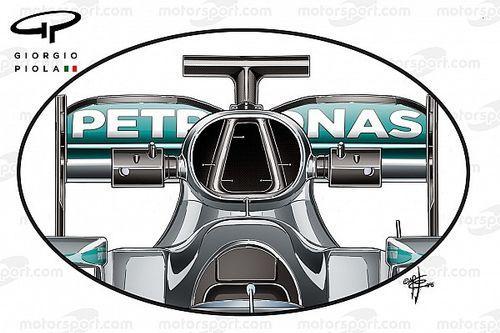 Tech analysis: F1 teams seeking gains in roll-hoop design