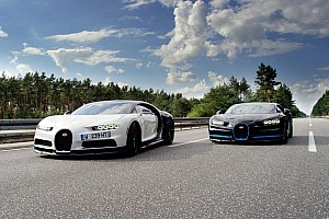 Automotivo Últimas notícias Exclusivo: como filmar um Bugatti Chiron a 400 km/h? Com outro Chiron!