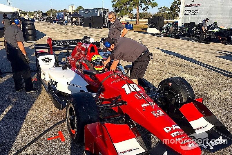 Indy Lights champ Pigot satisfied with first test in RLLR IndyCar