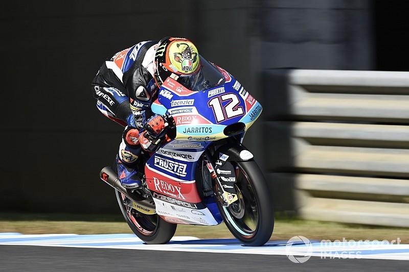 Moto3 in Motegi: Marco Bezzecchi gewinnt, Jorge Martin stürzt