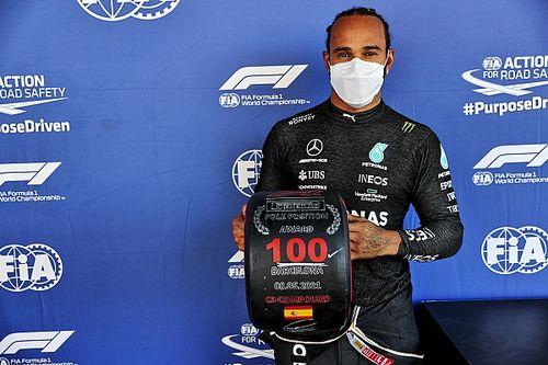 Хэмилтон завоевал на Гран При Испании 100-й поул в карьере