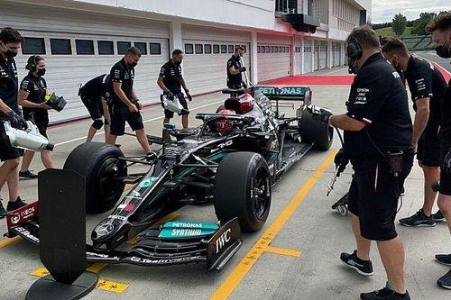 Mercedes, Ferrari ve McLaren lastik testinin ilk gününü tamamladı