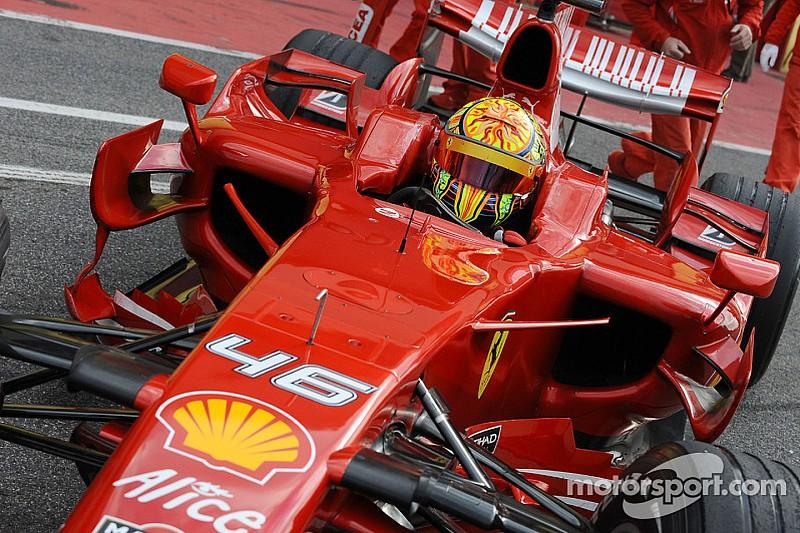 Bildergalerie: Als Valentino Rossi für Ferrari in der Formel 1 testete