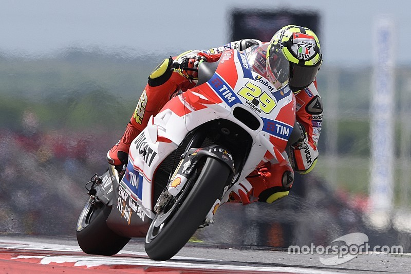 Austin MotoGP: Lorenzo crashes out, as Iannone tops warm-up