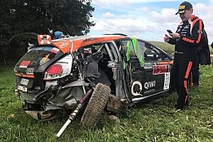 Відео: російський гонщик Лук'янюк розбив машину на етапі ERC