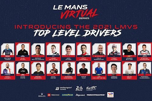 MSGM and Automobile Club de l'Ouest reveal full driver entry list for the Le Mans Virtual Series 2021-22 Season