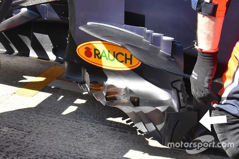 Tecnica Red Bull: provato un nuovo deviatore di flusso sulla RB15 di Gasly