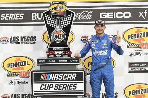 Larson secures first NASCAR Cup win since return in Las Vegas