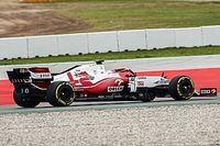Fotos: Alfa Romeo estrena su C41 en el Circuit de Barcelona-Catalunya