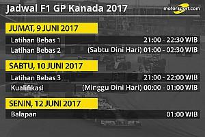 Formula 1 Special feature Jadwal lengkap F1 GP Kanada 2017