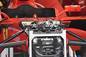 Forma-1 Elemzés Újdonságokat láthatunk a Ferrari első felfüggesztésében