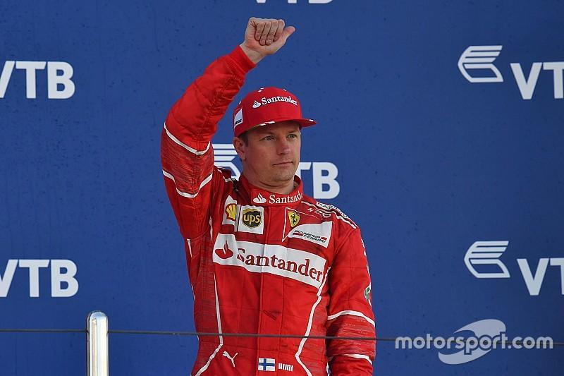 Räikkönen alcanzó su podio 85 en Rusia