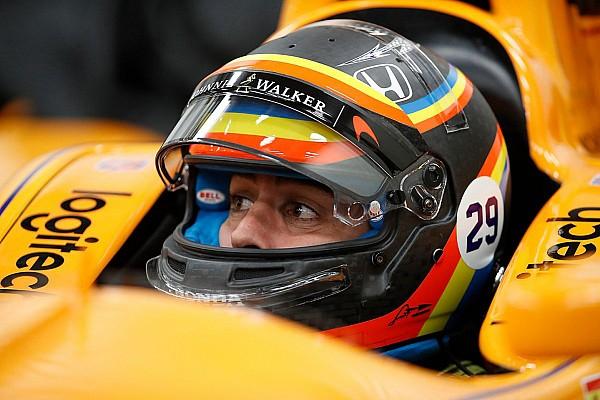 Formel-1-Fahrer Fernando Alonso vor 1. Test im IndyCar in Indianapolis