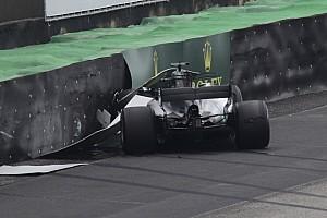 Formel 1 Fotostrecke Bildergalerie: Der Formel-1-Crash von Lewis Hamilton in Brasilien