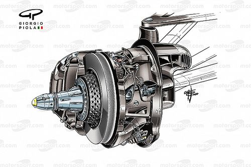 How Mercedes has taken F1 brake design to the next level