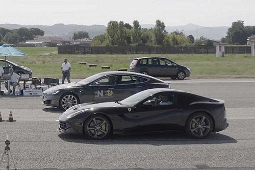 Может ли кроссовер обогнать Ferrari? Да – если это Tesla