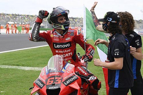 MotoGP: Bagnaia revela emoção por vitória e acredita em título